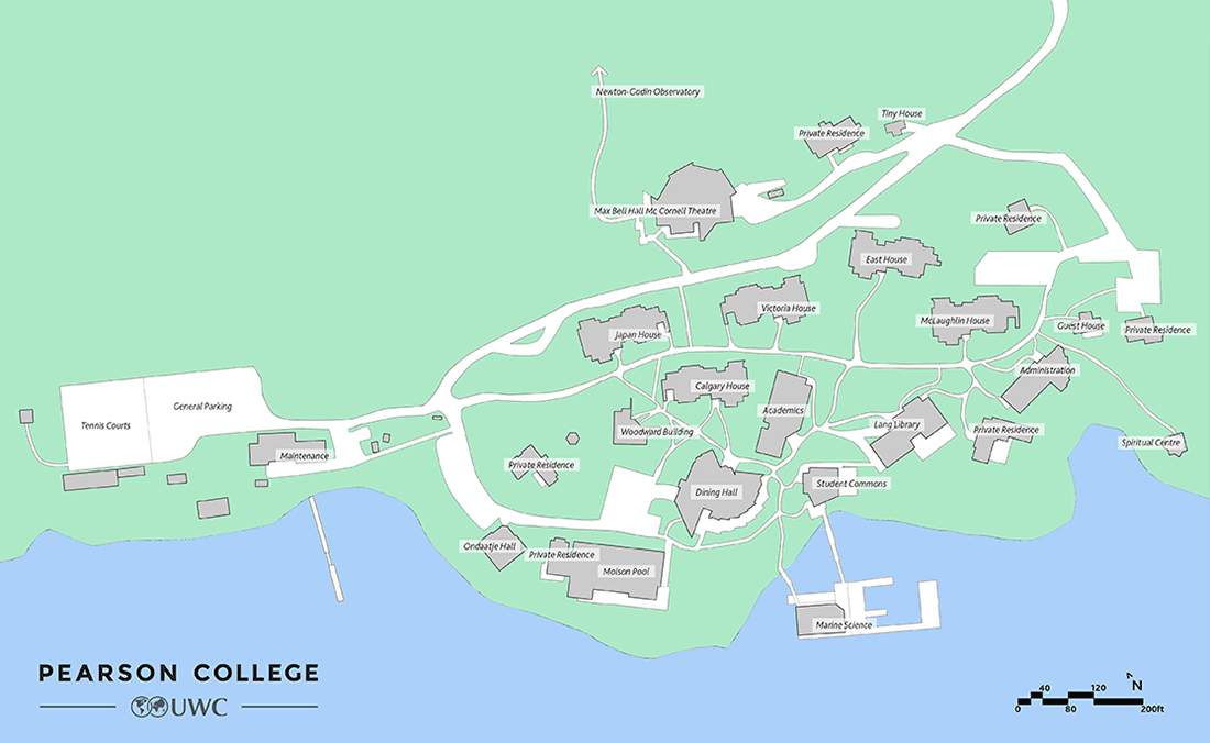 Pearson College Campus Map